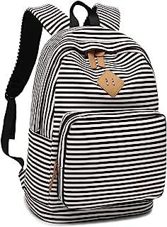 Girls Womens College Laptop Backpack School Bookbag Travel Rucksack School Bag with USB Charging Port for High School