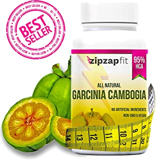 ZipZapFit Pure Garcinia Cambogia Extract - 95% HCA Capsules - Best Weight Loss Supplement - Non GMO - Gluten & Gelatin Free - Natural Appetite Suppressant and Weight Loss Support - 60 Capsules (1)