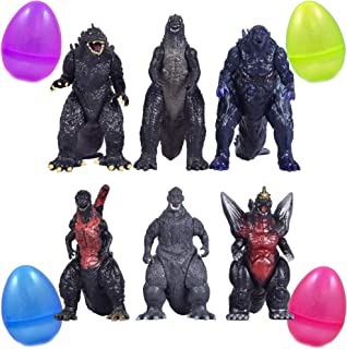 PARK AVE 6 Godzilla King of All Monsters Figurines Inside 8 Inch Jumbo Plastic Easter Egg - Great Party Favor Gift