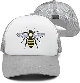 Pattern Caps Friendly Queen bee Unisex Adjustable mesh Sun Hats