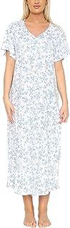 Ladies Long Plus Size Jersey Nightshirt in 7 Prints. Sizes 14-16 18-20 22-24 26-28 30-32