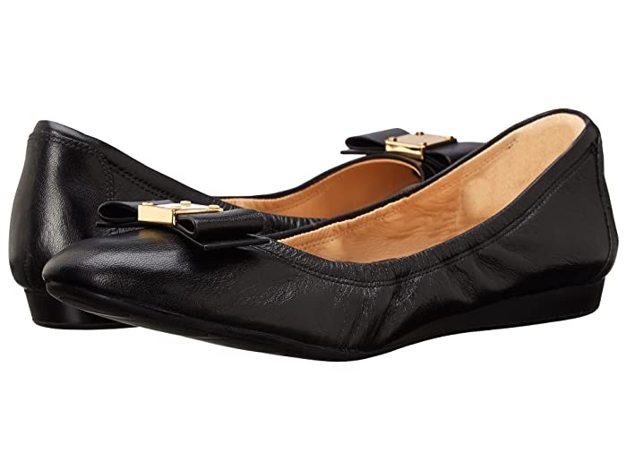 Cole Haan  Tali Bow Ballet (Black) Womens Slip on  Shoes
