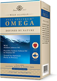 Solgar, Full Spectrum Omega, Wild Alaskan, 120 Softgels
