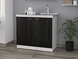 Napoles Utility Sink with Cabinet in Espresso