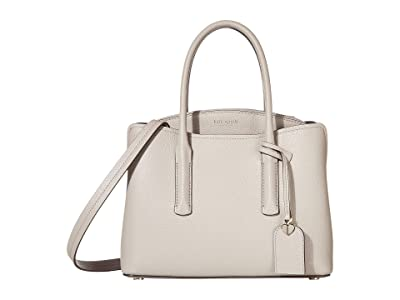Kate Spade New York Margaux Medium Satchel (True Taupe) Satchel Handbags