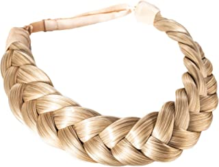 Madison Braids Women's Two Strand Headband Hair Braid Thick Natural looking Extension - Halo - Ashy Highlighted