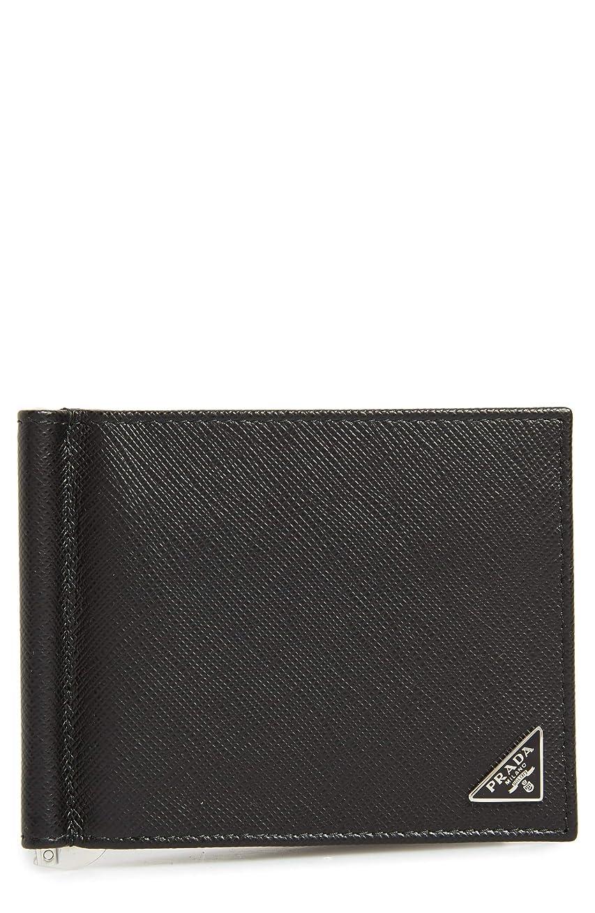 合意追加自分を引き上げる[プラダ] メンズ 財布 Prada Saffiano Leather Money Clip Wallet [並行輸入品]