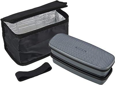 オーエスケー TSUMUGI Deux お弁当箱 2段(仕切付) 保冷バッグ付 BLW-28HXF
