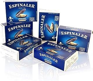 PACK MEJILLONES 20/30 PIEZAS ESPINALER x6 LATAS
