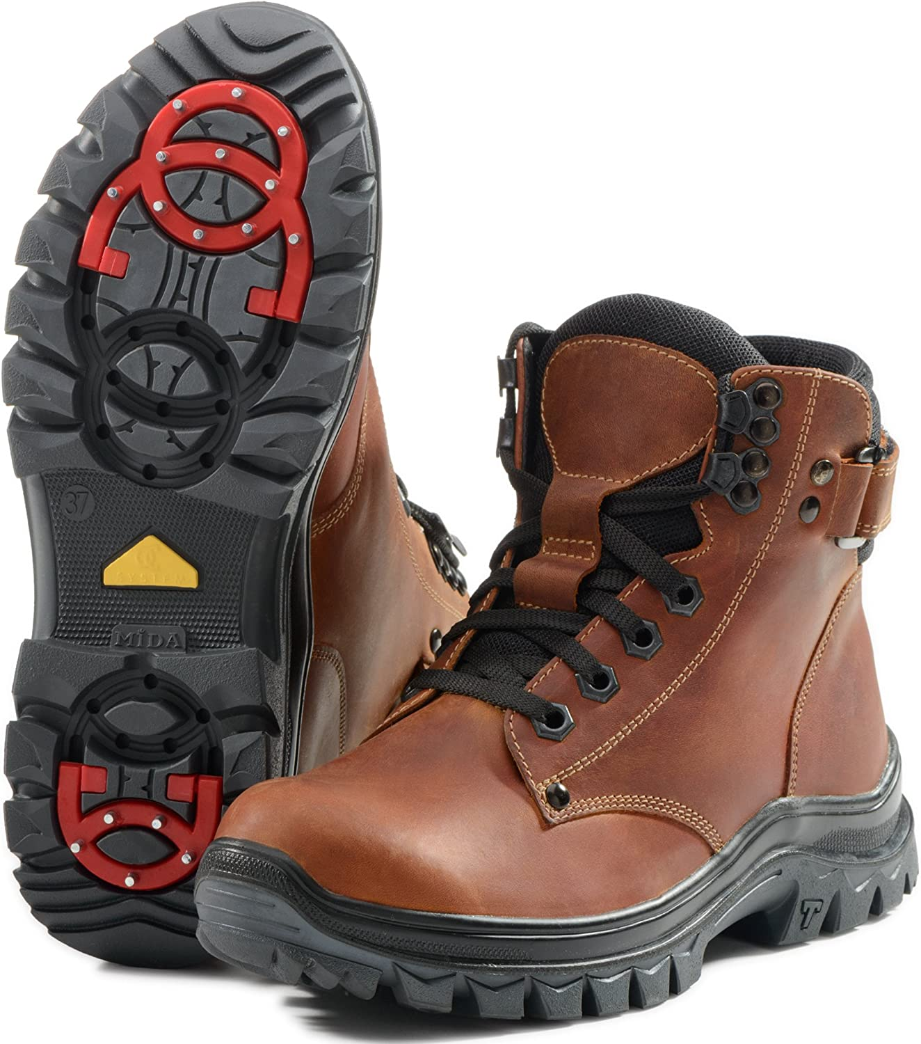 MIDA Boys and Girls Winter Boots for Kids 34149  Leather and Fur Snow shoes, Abrasion Resistant, with Special Anti-Slip System OC-System, Warm and Comfortable