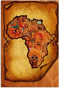 Hunter Direct Africa Paper Old This is My Land Africa is Born Melanin Poster Wall Art Home Decor Gifts for Lovers Painting (No Frame)