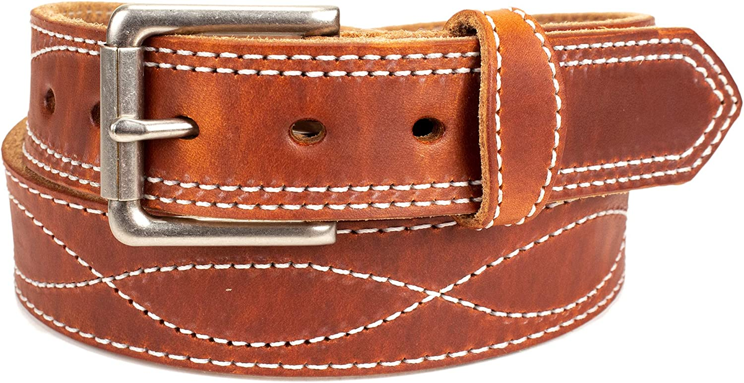 Amish Made mart Western Belt Leather Miami Mall Tool