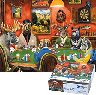 Puzzles for Adults 1000 Piece Jigsaw Puzzle for Adults - Bunmo Game of Poker Every Piece is Unique & Pieces Fit Together P...