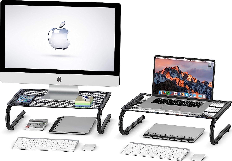 2 Pack - SimpleHouseware Mesh Monitor Stand Riser
