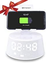 Emerson ER-X300 Docking Station with Wireless Charging, Bluetooth Speaker, Hands-Free Calling and Adjustable Arm