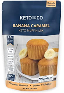 Banana Caramel Keto Muffin Mix by Keto and Co   Just 1.8g Net Carbs Per Serving   Gluten Free, Low Carb, No Added Sugar, N...