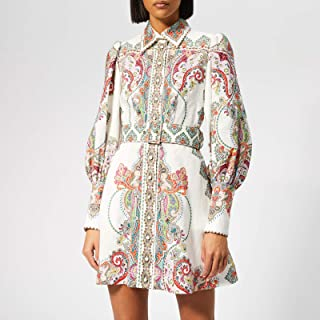 M M BOUTIQUE Alhambra Wavey Shirt Dress with Full Front Buttons