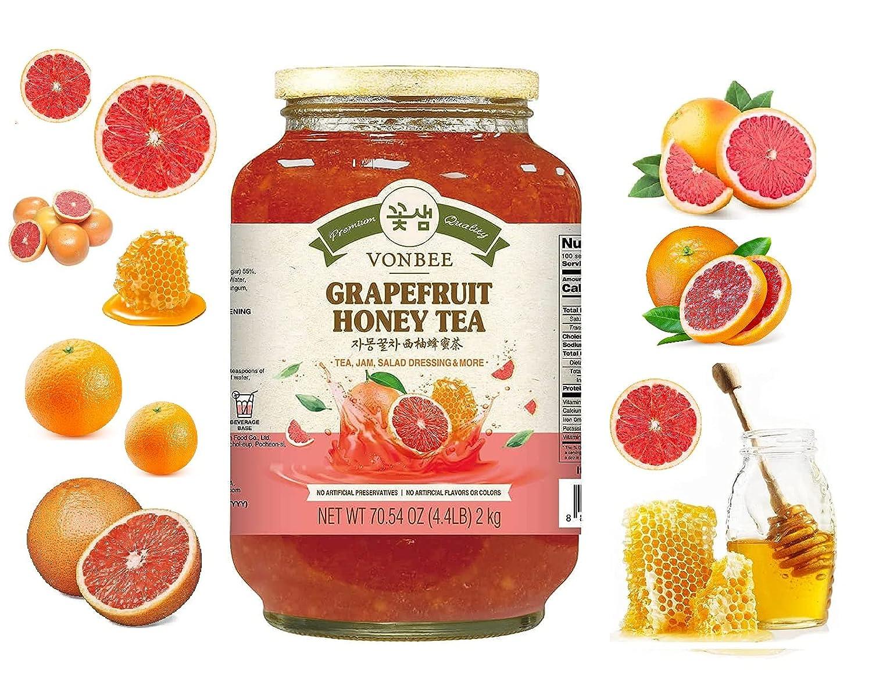 Today's only Vonbee Grapefruit Honey Tea Cheap bargain Family Size Prod 70.54 Lbs 4.4 Oz