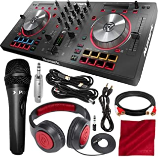 Numark Mixtrack Pro 3 - USB DJ Controller with Serato DJ Lite Download & Integrated Sound Card + Headphones and Microphone Deluxe Bundle