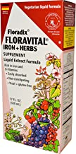 Salus-Haus Floradix Floravital Iron Plus Herbs Supplement Liquid Extract Formula, 17 Ounce