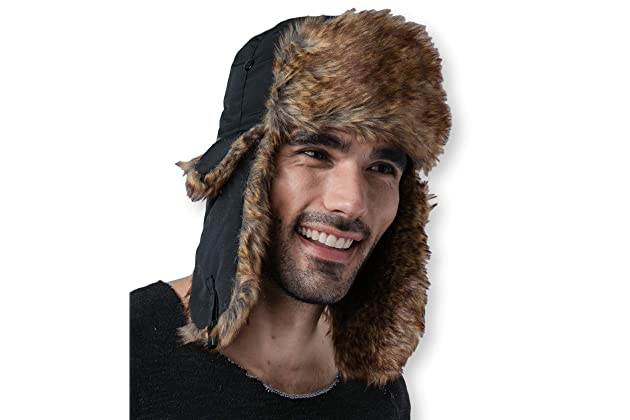 Tough Headwear Trapper Hat with Faux Fur   Ear Flaps - Ushanka Aviator  Russian Hat for Serious Expeditions   Serious Style. Waterproof 6e47c346c50c