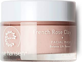 Eve Hansen French Rose Clay Face Mask - Resurfacing Pink Clay Mask with Bentonite, Kaolin, Rosehip, Moringa...