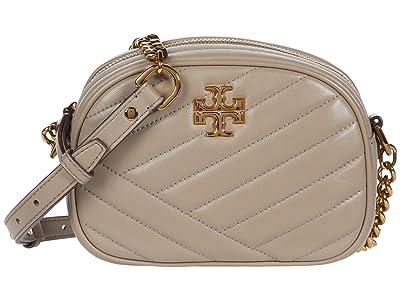 Tory Burch Kira Chevron Small Camera Bag (Gray Heron) Handbags