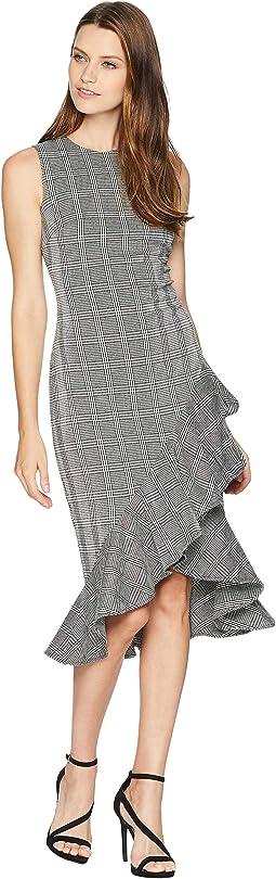 Plaid Ruffle Hem Dress CD8E21QW