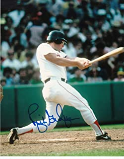 Signed Rich Gedman Photo - 8x10 - Autographed MLB Photos