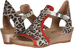 Cheetah Suede/Kiss Red Leather/Radiant Gold Leather
