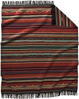 Pendleton Garnet Grey Chimayo Wool Throw