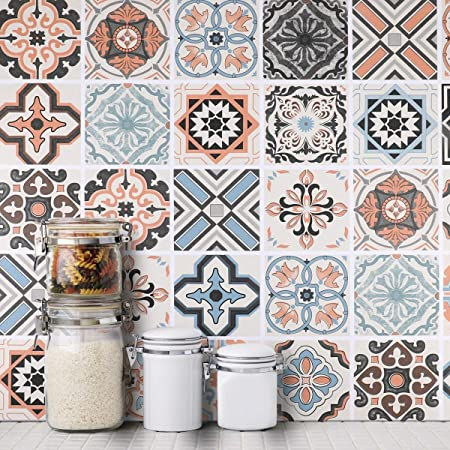 Oxdigi Peel and Stick Kitchen Pattern Wallpaper Tile Roll Removable Backsplash Self Adhesive Water-Proof Contact Paper for Kitchen Bathroom Liner Drawer Wall Home Decoration Mural 24 x 196 inches
