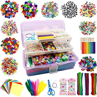 1525 Pcs Arts and Crafts Supplies for Kids, Craft Box for Kids, Toddler DIY Craft Art Supply Set, All in One DIY Crafting ...