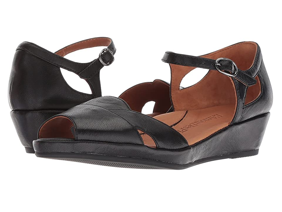 Vintage Sandal History: Retro 1920s to 1970s Sandals LAmour Des Pieds Betterton Black Capri Kid Womens Sandals $198.95 AT vintagedancer.com