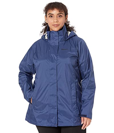 Marmot Plus Size PreCip(r) Eco Jacket (Arctic Navy) Women