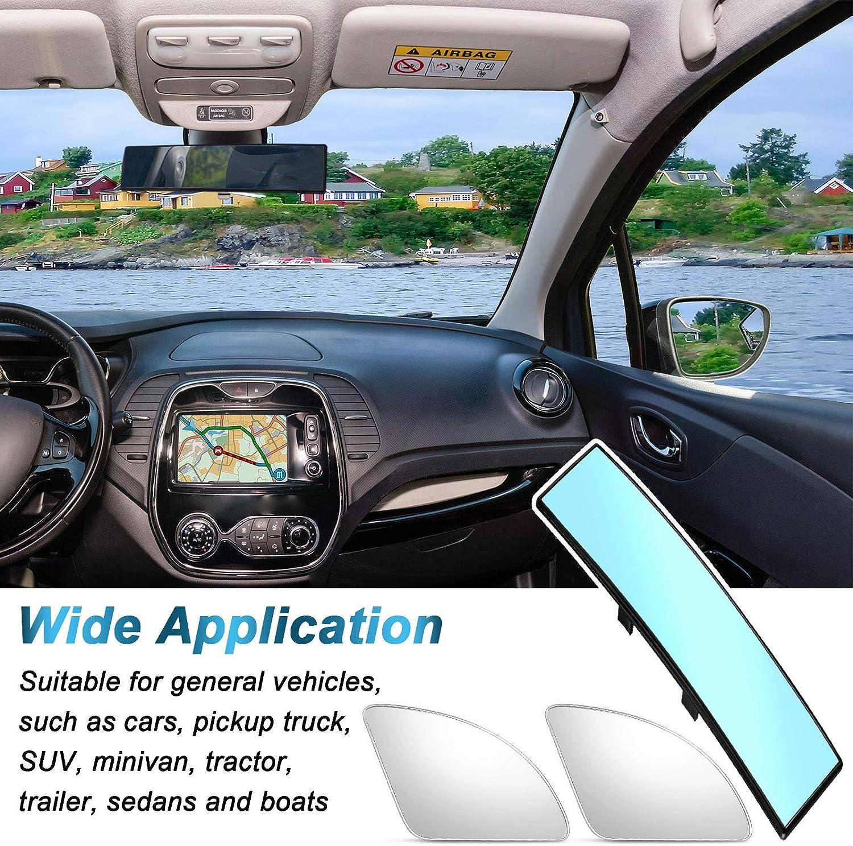 Blue Car Interior Rear View Mirror 300 mm Convex Rearview Mirror ...