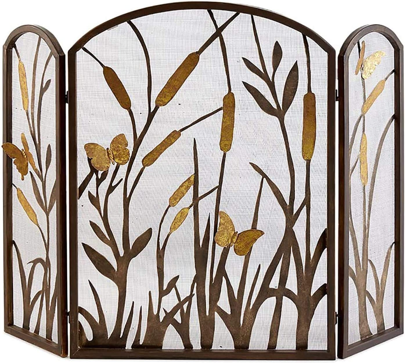 ZSEFV Screens High material Fireplace Covers Leaf Decorative Design 4 years warranty