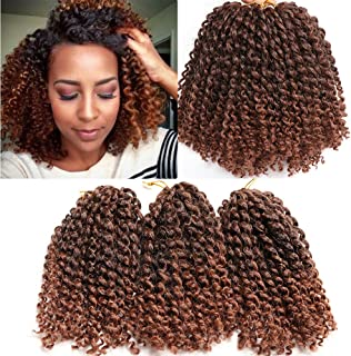 6 Bundles Marlybob crochet hair afro kinky curly hair crochet braids curly wave crochet braiding hair synthetic hair extension (T1B/30)