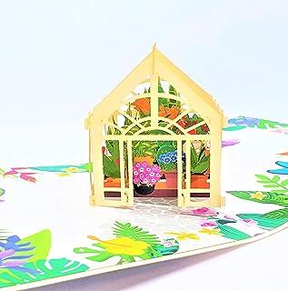BC Worldwide Ltd carta pop-up 3D fatta a mano serra giardino d'inverno compleanno, anniversario di matrimonio, festa della...
