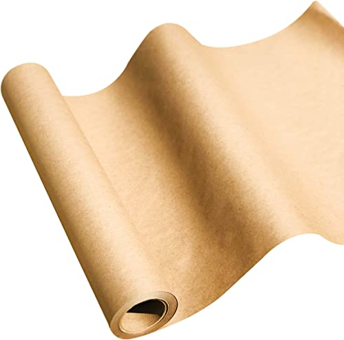 """NY Paper Mill Brown Kraft Paper (17.50"""" x 75' Feet) Jumbo Roll, Ideal for Gift Wrapping, Art & Craft, Postal, Packing..."""