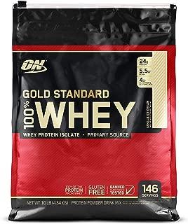 OPTIMUM NUTRITION Gold Standard 100% Whey Protein Powder, Vanilla Ice Cream, 10 Pound