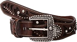 Scalloped Inlay Rhinestone Belt