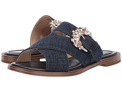MICHAEL Michael Kors Frieda Slide (Indigo Denim) Women