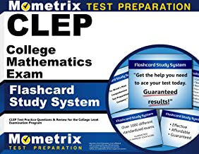 CLEP College Mathematics Exam Flashcard Study System: CLEP Test Practice Questions & Review for the College Level Examination Program (Cards)