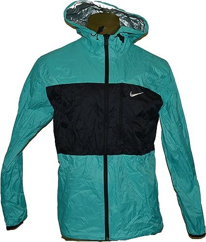 Nike Hommes Nike Winger 2 ton plein Zip Up Packable Nylon sweat à capuche Veste Grand Gama Noir
