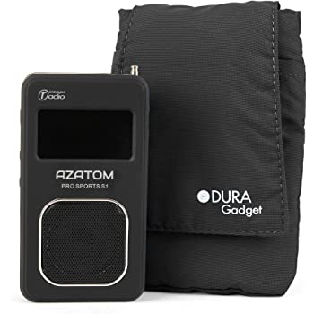 DURAGADGET Black Nylon Cushioned Case Pouch (Radio NOT Included) - Compatible with AZATOM Pro Sports S1 DAB Digital & FM Radio
