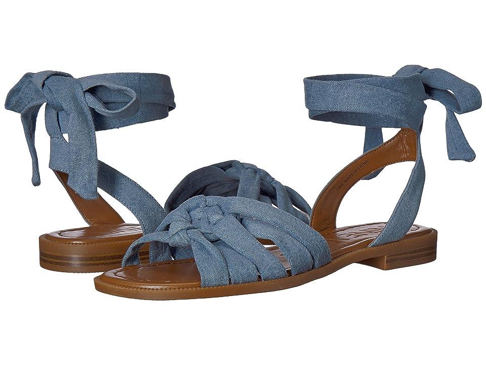 Nine West Xameera Wrap Sandal (Light Blue Denim) Women's Shoes