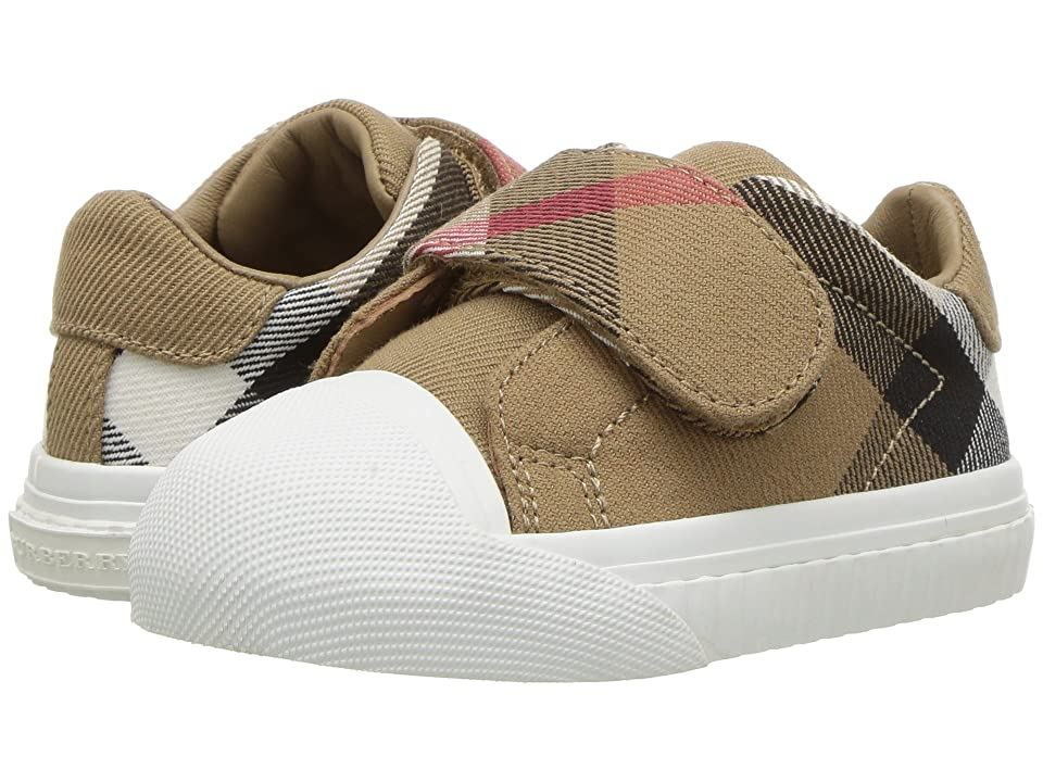 Burberry Kids Beech Check Trainer (Infant/Toddler) (Classic/Optic White) Kid