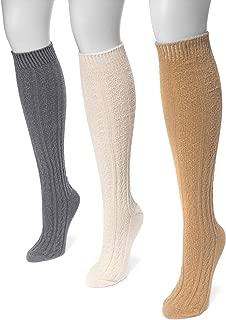 Muk Luks Women's 18'' Original Cable Knee High Socks