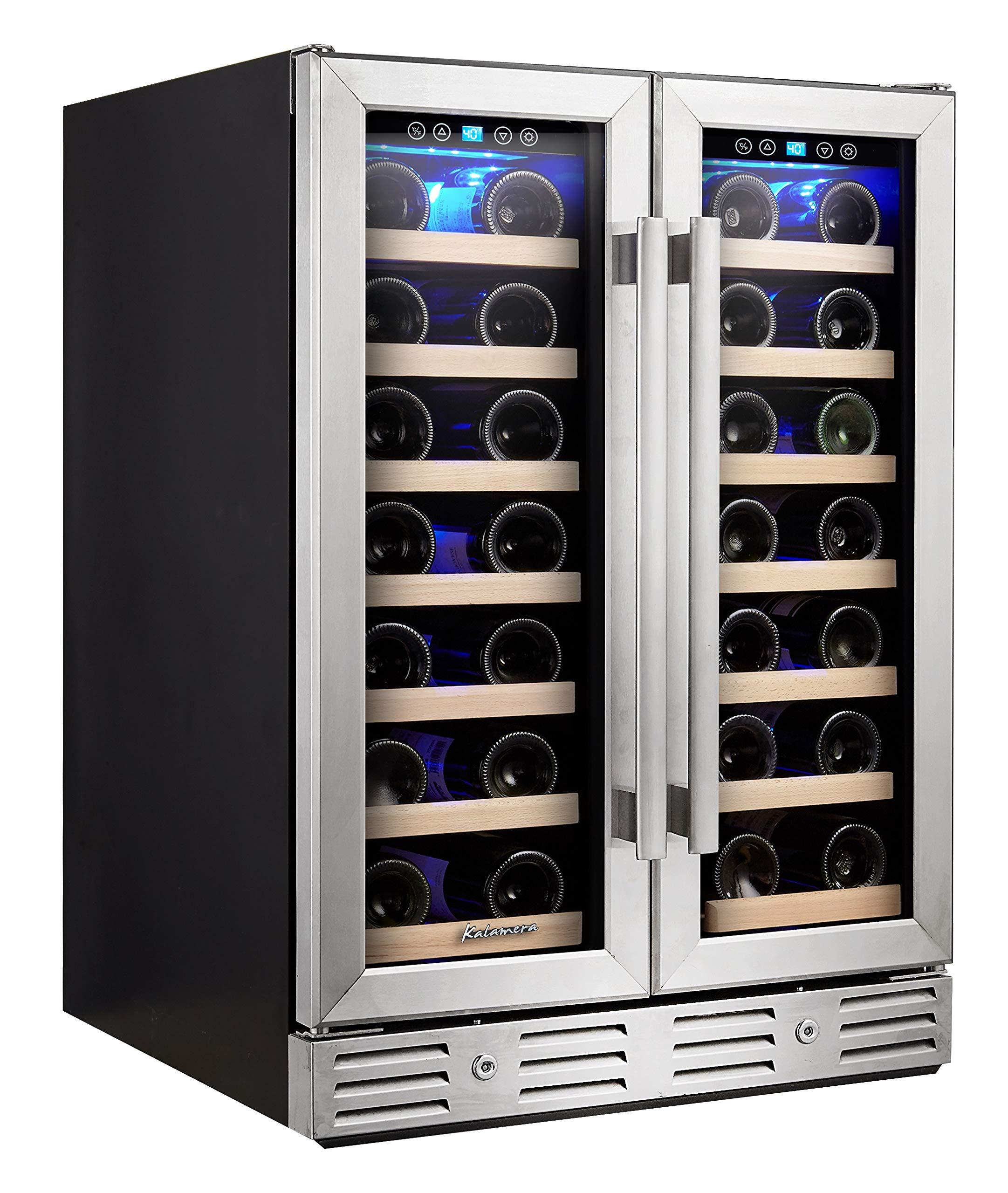 Kalamera Wine Cooler Freestanding Temperature